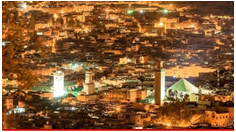 Aerial view of Marrakech