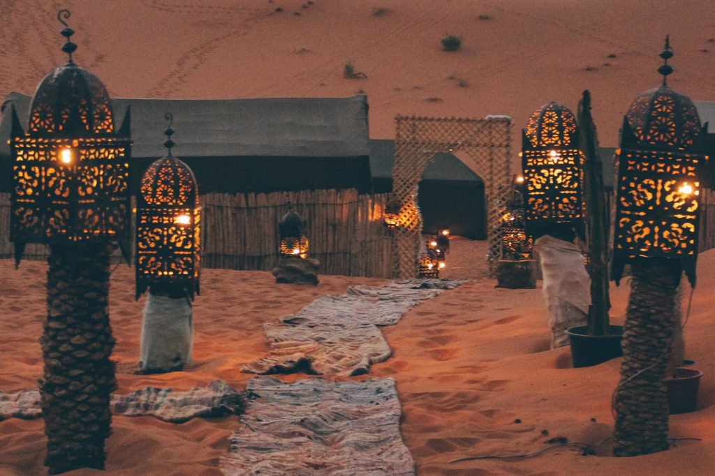 Lanterns in the Desert