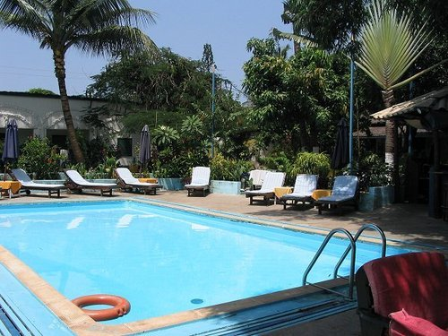 Outdoor pool area of Safari Garden Hotel Fajara