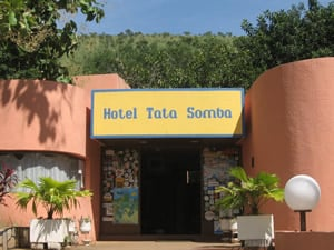 Entrance to Hotel Tata Somba